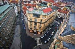 Prag von der Dachspitze Lizenzfreie Stockfotos