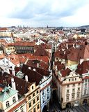 Prag von oben stockfotografie