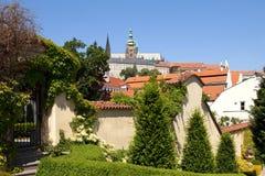 Prag - vrtba Garten und hradcany Schloss Stockbilder