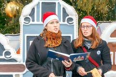 prag Weihnachtslieder lizenzfreies stockbild