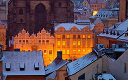Prag zur Winterzeit lizenzfreies stockbild