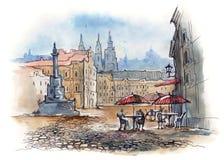 Praga stock de ilustración