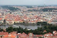 Praga aerea Fotografia Stock Libera da Diritti