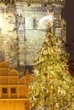 Praga - albero di Natale al quadrato di Città Vecchia Fotografia Stock