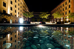 Praga alla notte Immagini Stock