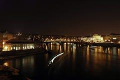 Praga alla notte Fotografie Stock