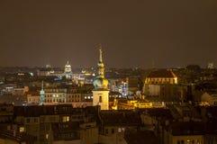 Praga alla notte Immagine Stock