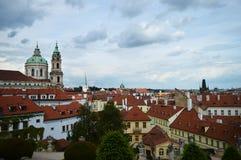 Praga antes da tempestade imagens de stock
