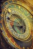 Praga Astronomicznego Zegarowego szczegółu Retro Stonowany Fotografia Stock