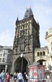 Praga, august 29-Tower Charles most od Praga w republika czech Zdjęcie Royalty Free