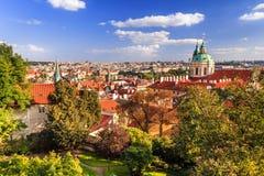 Praga in autunno Fotografia Stock Libera da Diritti