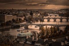 Praga in autunno Fotografia Stock