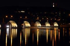 Praga bonita na noite Imagem de Stock