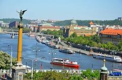Praga bonita - vista do parque de Letna imagem de stock