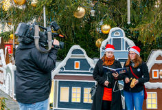 praga Canciones de la Navidad Fotos de archivo libres de regalías
