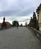 Praga, capitale della repubblica Ceca - Charles Bridge immagine stock libera da diritti