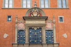 Praga caput regni, entrance to the town hall, Prague, Czech Repu Stock Photo