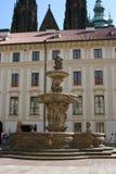 Praga Castle_fountain Fotografie Stock