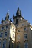 Praga. Catedral de Tyn Fotografía de archivo libre de regalías