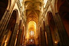 Praga. Catedral del St. Vitus Imagen de archivo libre de regalías