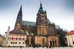 Praga, cattedrale della st Vitus. La repubblica Ceca Fotografie Stock Libere da Diritti