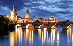 Praga, Charles most -, republika czech Zdjęcie Stock