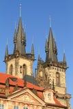 Praga - chiesa della nostra signora prima di Tyn Immagine Stock