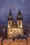 Praga, chiesa di Tyn Fotografie Stock Libere da Diritti
