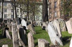 Praga, cimitero ebreo Fotografia Stock Libera da Diritti