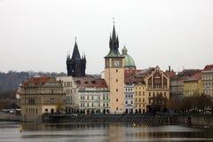 Praga Città Vecchia con la torre del ponte, repubblica Ceca Fotografia Stock Libera da Diritti
