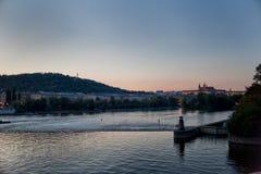 Praga. Cityscape of Praga on the Moldava Stock Photo