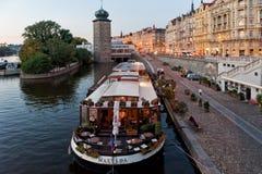 Praga. Cityscape of Praga on the Moldava Stock Photography