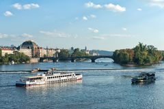 Praga. Cityscape of Praga on the Moldava Royalty Free Stock Photos