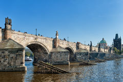 Praga. Cityscape of Praga on the Moldava Royalty Free Stock Images
