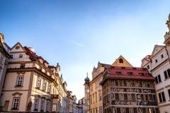 Praga: costruzioni e dettagli di architettura Fotografia Stock Libera da Diritti