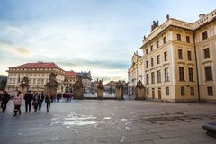24 01 2018 Praga, czech Rebuplic - widok miasto od ob Zdjęcia Stock
