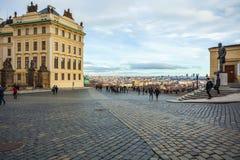 24 01 2018 Praga, czech Rebuplic - widok miasto od ob Obraz Royalty Free