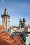 PRAGA, czech REPUBLIC/EUROPE - WRZESIEŃ 24: Stary urząd miasta Holowniczy Fotografia Stock