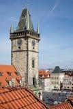 PRAGA, czech REPUBLIC/EUROPE - WRZESIEŃ 24: Stary urząd miasta Holowniczy Fotografia Royalty Free