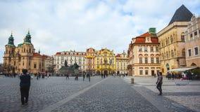 25 01 2018 Praga, czech Respublic - kościół St Nicholas w O Obrazy Stock