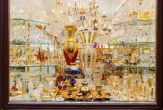 Praga Czeski Artystyczny szkło Zdjęcia Royalty Free