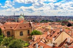 Praga dachy Obraz Stock
