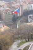 Praga dalla collina di VÃtkov Immagine Stock