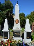 PRAGA - 19 DE MAYO: Lugar de descanso pasado de Bedrich Smetana Fotos de archivo libres de regalías