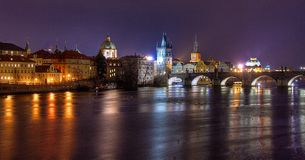 Praga de Night Fotografía de archivo libre de regalías