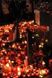 Praga, dla Vaclav świeczek światła Havel Zdjęcie Royalty Free