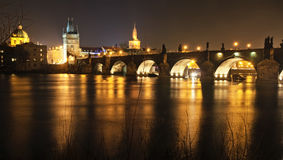 Praga dorata Fotografia Stock Libera da Diritti