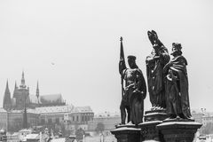 Praga durante l'inverno Immagine Stock
