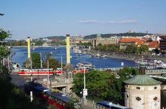 Praga e Vltava   Imagens de Stock Royalty Free