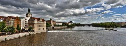 Praga e Vltava Fotos de Stock